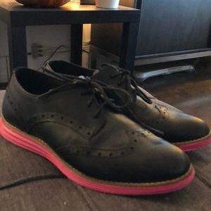 COLE HAAN OXFORD GRAND OS BLACK PINK